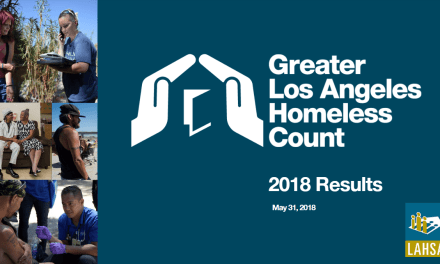 Results of the 2018 Greater Los Angeles Homeless Count