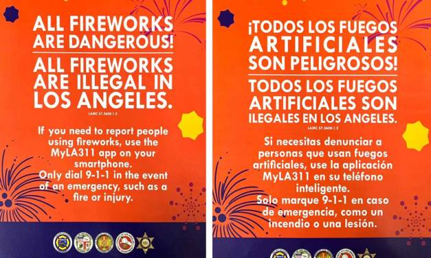 All Fireworks are Illegal in Los Angeles