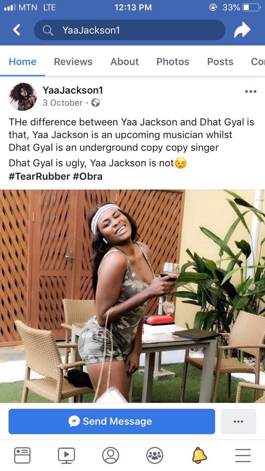 Stop Fooling For Fame– Dhat Gyal Fires Yaa Jackson