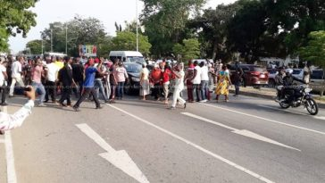 Supporters of NDC block roads