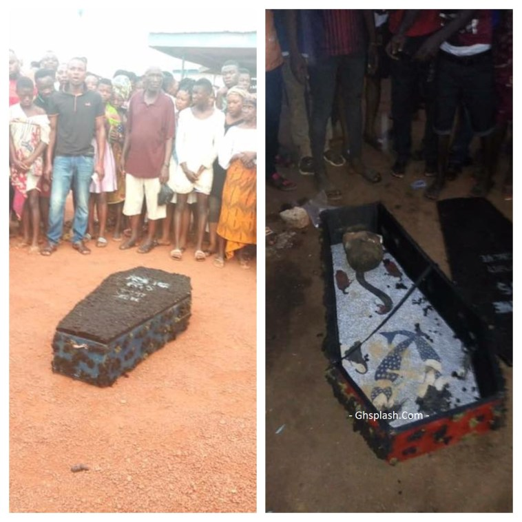 Mysterious coffin containing human head found at Sefwi Asawinso