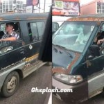 White man spotted driving Trotro