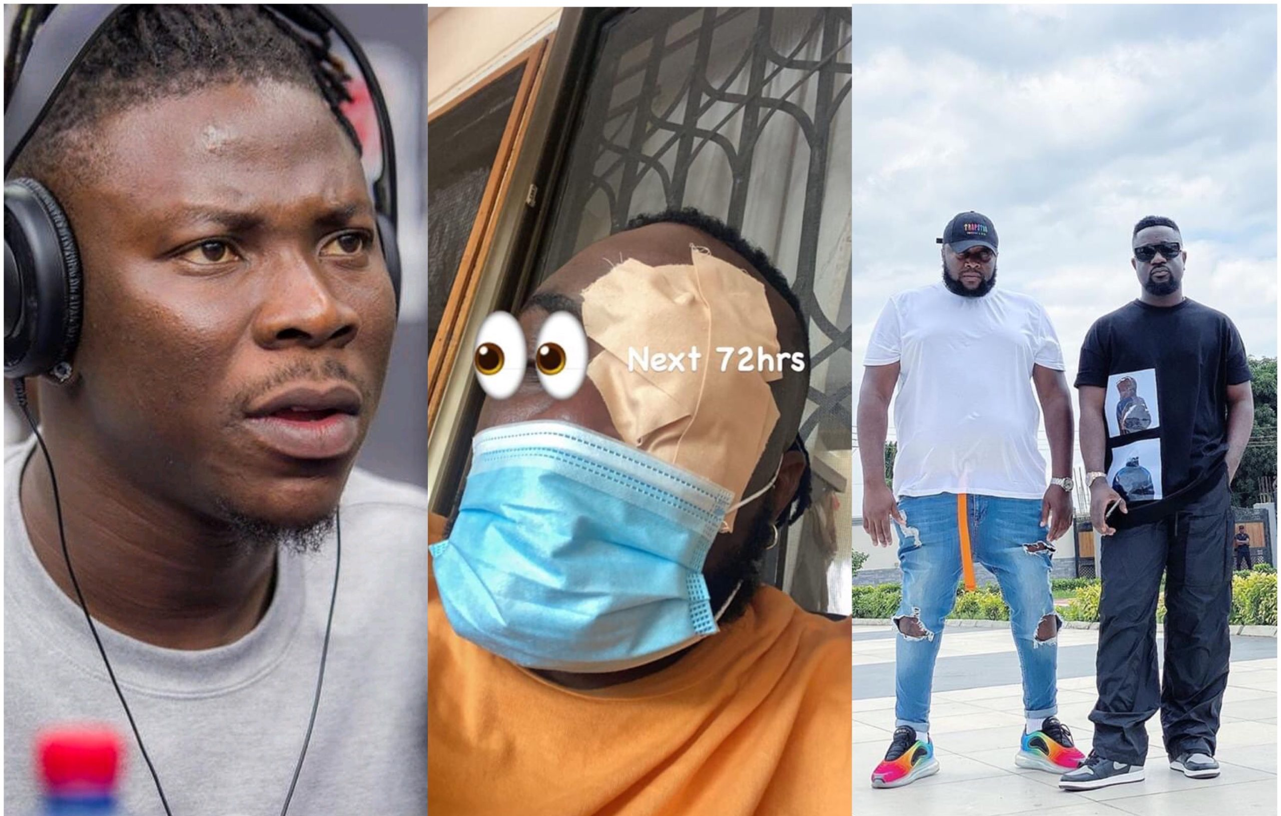 VIDEO: Stonebwoy shows deep regret; humbly apologizes to Sarkodie's manager for beating him