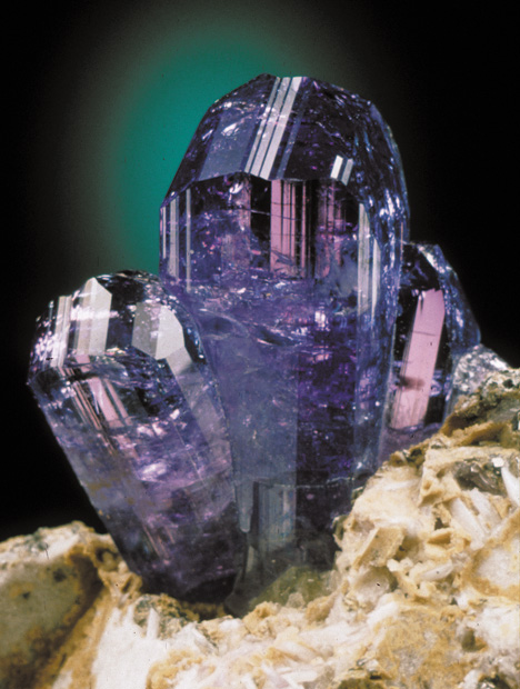 Tanzanite: the violet blue to blue violet variety of the mineral zoisite.