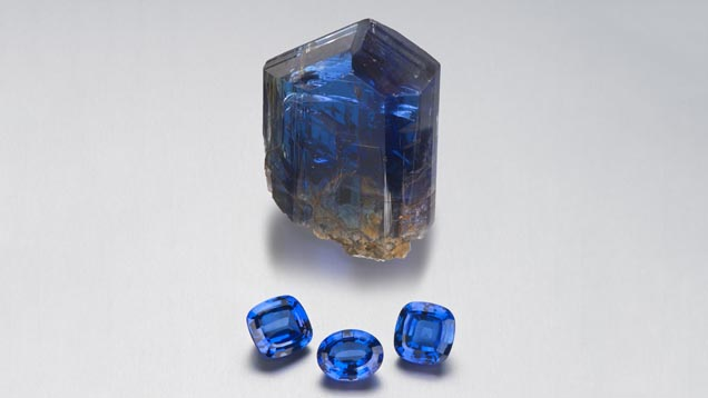 Tanzanite's color can be a very bright, intense blue.