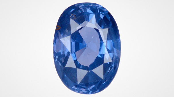 4.81 ct unheated blue sapphire from Sri Lanka. Photo by Diego Sanchez / GIA