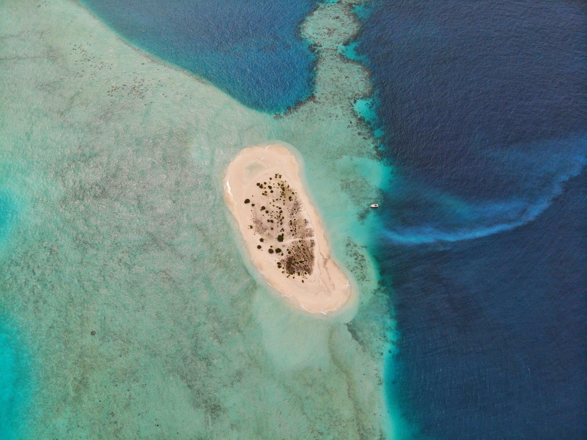 Atollo Isola di sabbia Maldive