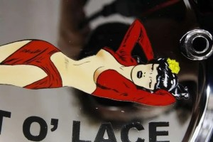 A bit o' lace - aerografia - Giampiero Abate