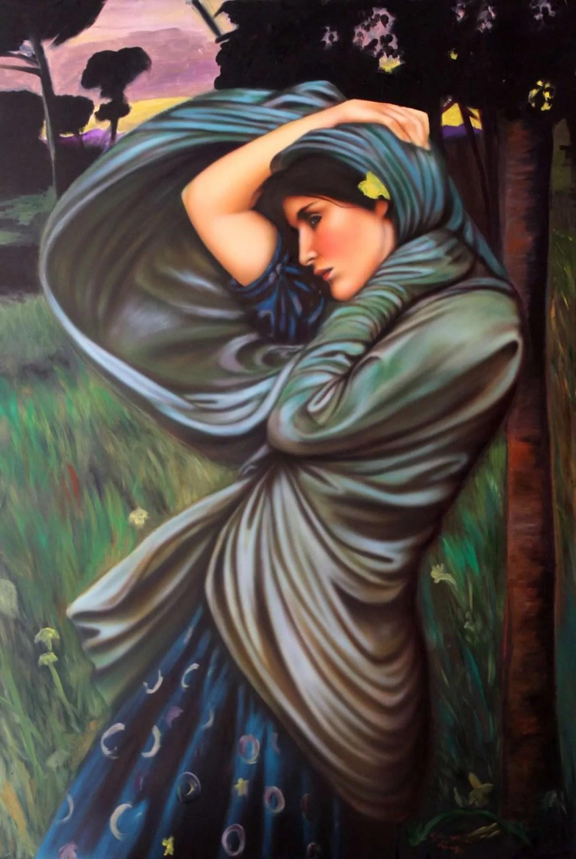 Boreas di J. W. Waterhouse - 70x100 cm - 2015 - Collezione Privata Roma