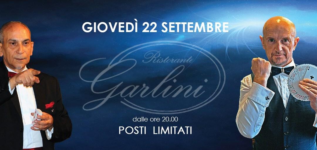 cena con i maghi a Gorle giovedì 22 settembre – Ristorante Garlini al Baio