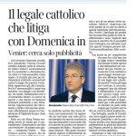 """""""Il legale Cattolico che litiga con Domenica in"""", in Corriere della Sera del 6 novembre 2013"""