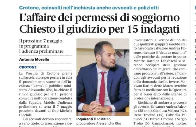 gazzetta del Sud sul Business dei migranti a Crotone