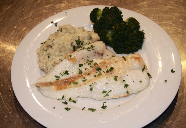 Orange Roughy with Caramelized Onion Risotto