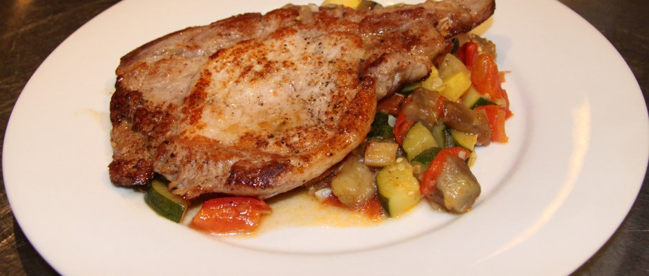 Sauteed Pork Chops with Ratatouille