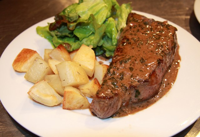 Steak with Bordelaise Sauce