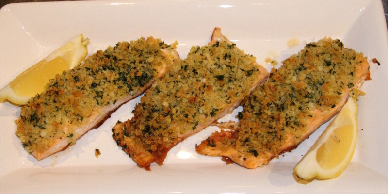 Panko Crusted Salmon - Tasty and tender