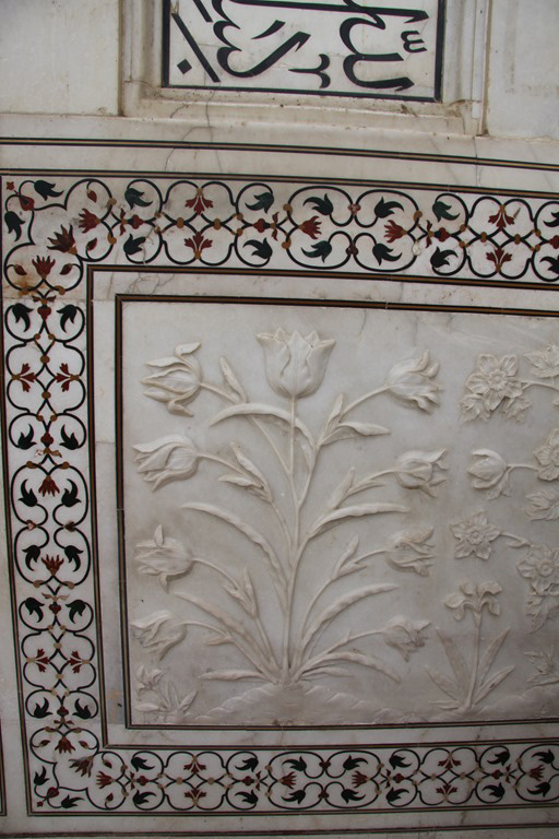 Marble work and semi precious stones inlay