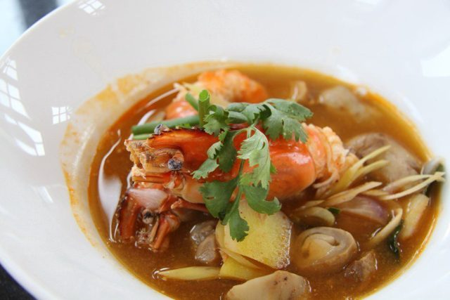Our lunch – Tom Yum Goong or Spicy Prawn Soup