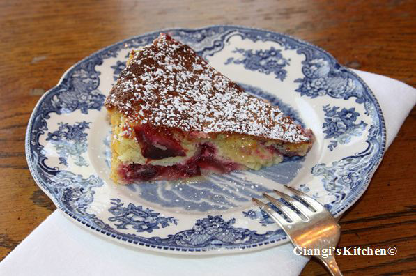 Almond Plum Cake ready to eat copy