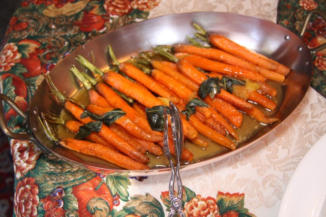 Roasted Carrots with Orange Brown Butter and Sage