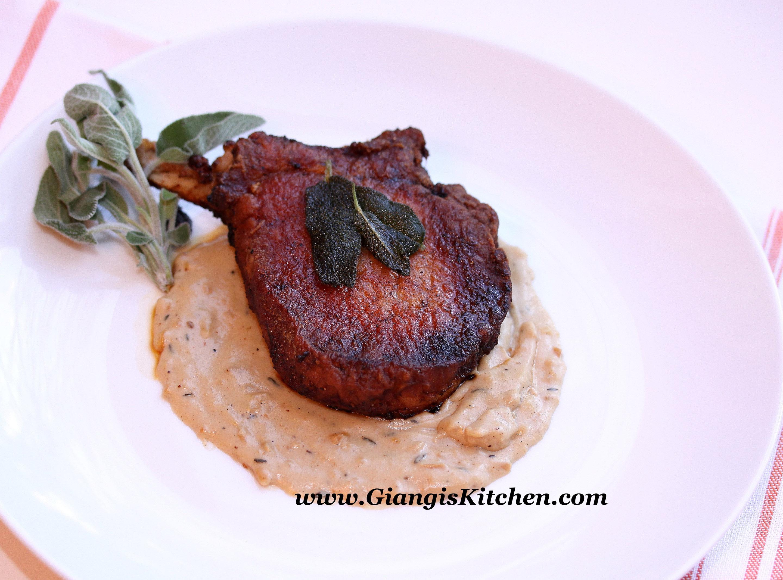 Skillet Pork Chops with Browned Butter Sage