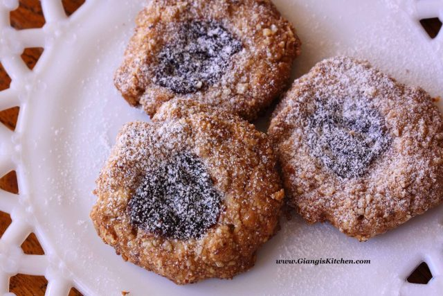 oatmeal forest berries thumbprint cookies