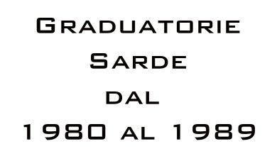 Photo of Graduatorie Sarde dal 1980 al 1989