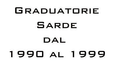 Photo of Graduatorie Sarde dal 1990 al 1999