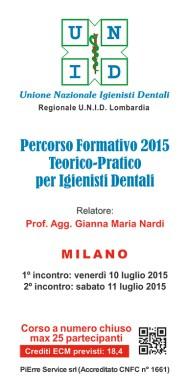 Percorso Formativo 2015 Teorico-Pratico per Igienisti Dentali.