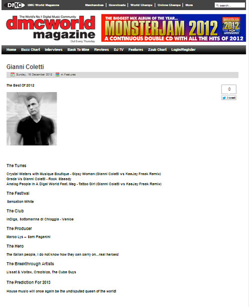 gianni coletti on dmc world magazine