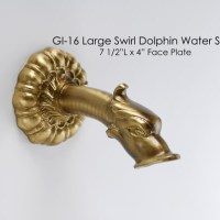 Large Swirl Dolphin Spout