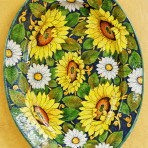 Linea Girasoli Oval Platter