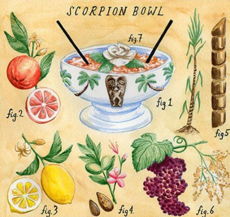 scroprion cocktail scorpion bowl trader vic