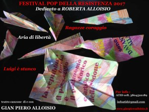 Festival Pop della Resistenza dedicato a Roberta Alloisio @ Teatro Giacometti - Novi Ligure (AL) | Novi Ligure | Piemonte | Italia