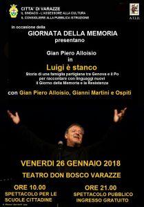 "Gian Piero Alloisio in ""Luigi è stanco"" @ Teatro ""Don Bosco"" - Varazze (SV) | Varazze | Liguria | Italia"