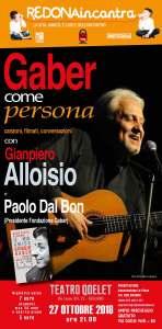 Gaber come persona - canzoni, filmati, conversazioni con Gian Piero Alloisio @ Teatro Qoelet - Bergamo | Bergamo | Lombardia | Italia