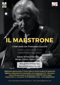 """Gian Piero Alloisio - """"Il Maestrone: i miei anni con Francesco Guccini"""" - Borgio Verezzi (SV) @ Teatro Gassman - Borgio Verezzi (SV)"""