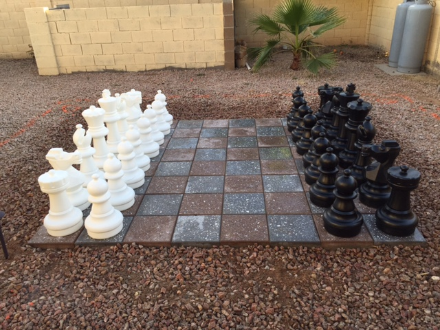 Backyard Tile Giant Chess