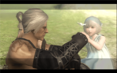 Nier gives Yonah a Luna Tear.