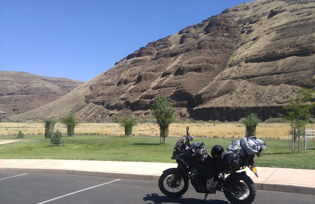 Took a dip in the John Day River on the roasting ride out
