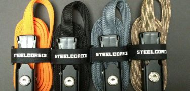 Steelcore Security Strap available from Giant Loop to secure Great Basin Saddlebag, Siskiyou Panniers and other adventure gear to any motorcycle ATV, UTV, SxS, 4x4 or other vehicle or rack.