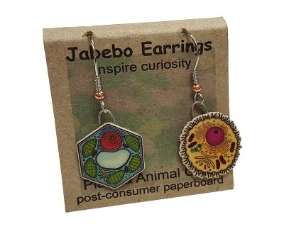 Animal & Plant Cells Color Earrings: Valentine Perfect GIANTmicrobes