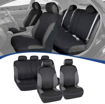Charcoal Trim Black Car Seat Covers