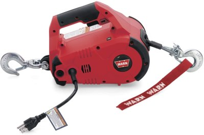 20V AC Portable Electric Winch with Steel Cable