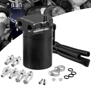 Universal Car Oil Catch Can Kit Reservoir Tank