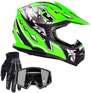 Youth Kids Offroad Gear Combo Helmet