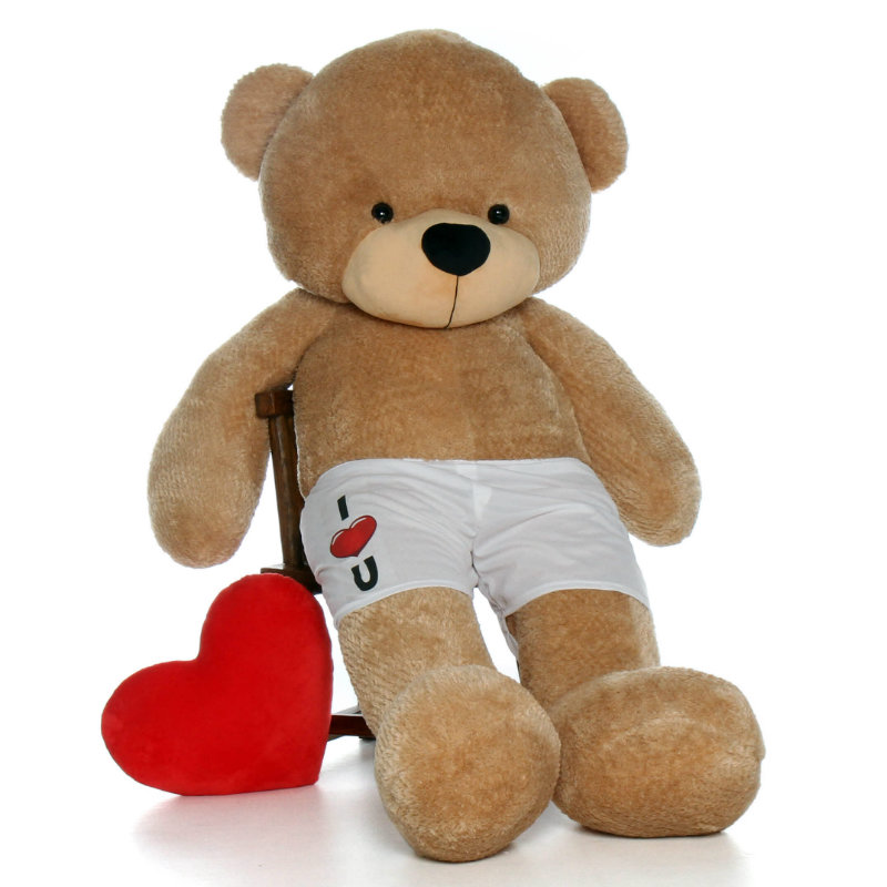Life Size 6ft Teddy Bear In I Love You Boxers Choose From