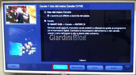 modifica canali tv samsung
