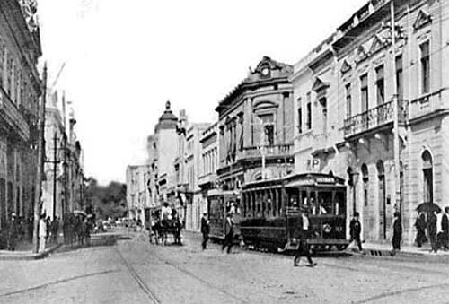 Rua 7 de Setembro em 1918