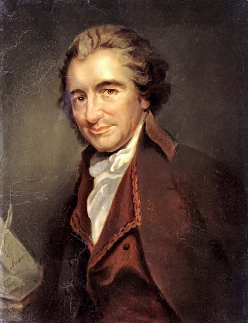 Thomas Paine, grande divulgador do deísmo nos Estados Unidos.